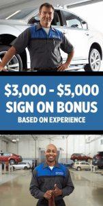 Sample ad says Sign on Bonus $3,000-$5,000 based on experience